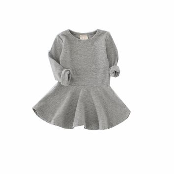 Candy Color Baby Girl Dress Children Clothing Children Dress Spring Autumn Girl Dress Baby Products
