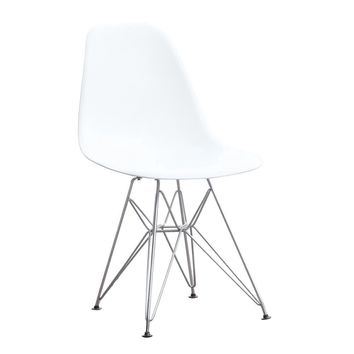 WireLeg Dining Side Chair, White