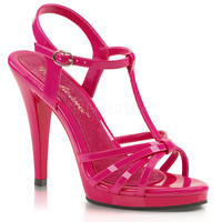 Fabulicious Hot Pink Strappy Flair Sandal