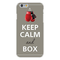 Apple iPhone 6 Custom Case White Plastic Snap On - Keep Calm and Box Boxing Gloves