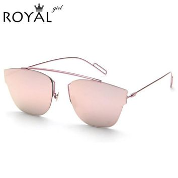 High Quality Metal Frame Fashion Cat Eye Sunglasses Women Brand Designer Vintage Sunglass Men Sun glasses