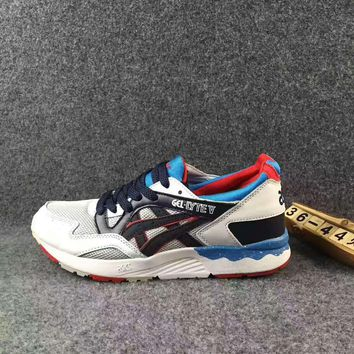 ASICS GEL LYTE V :Fashion Sport Casual Shoes Sneakers White-blue