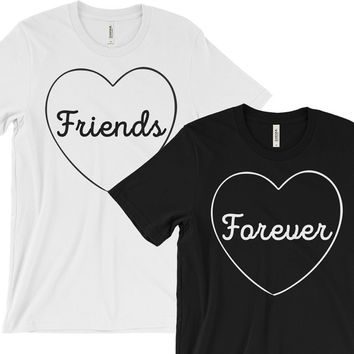 Best Friend Shirts - BFF Shirts - Tumblr - Grunge - Bridesmaid Best Friends Gift - Bestie Shirts Gifts- Friends Forever - Couple Twins Top