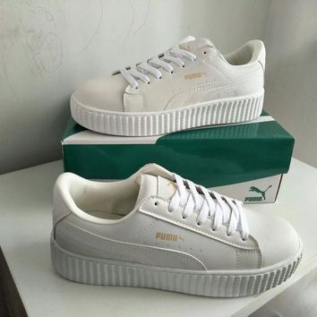 """Puma"" Unisex Sport Casual Low Help Plate Shoes Couple Fashion Thick Bottom Small White Shoes Sneakers"