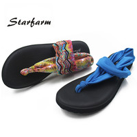 Yoga Sole Sling Thong Sandals - 2 colors