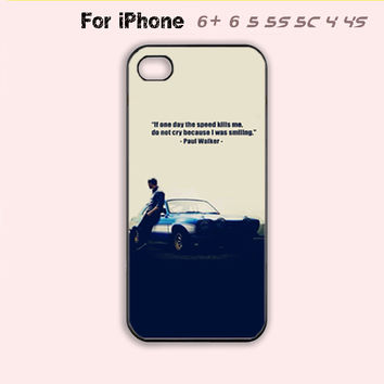 Paul Walker Phone Case For iPhone 6 Plus For iPhone 6 For iPhone 5/5S For iPhone 4/4S For iPhone 5C-5 Colors Available