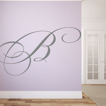 "Family Name Monogram Wall Vinyl Decal Graphic 29"" Tall Letter Home Decor"