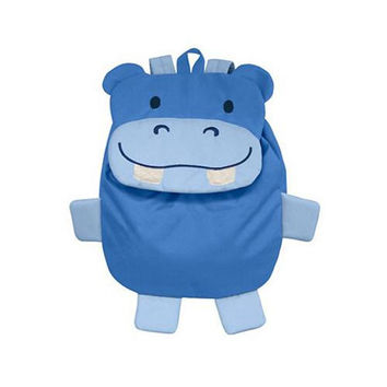 Green Sprouts Safari Backpack Blue Hippo