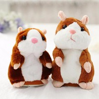 18cm Talking Hamster Plush Doll Toy