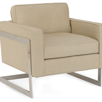 Milano Accent Chair, Beige, Acrylic / Lucite, Accent & Occasional Chairs