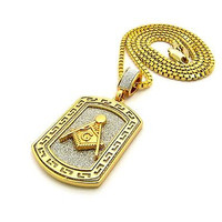 DOG TAG GOLD CHAIN NECKLACE