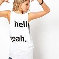 ASOS Vest with Hell Yeah Print at asos.com