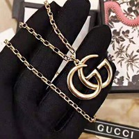 GUCCI New fashion GG letter pendant couple necklace