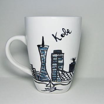 Kobe Japan Long Distance Love - Skyline Coffee Mug