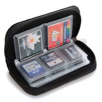 2Pcs Set Memory Card Carrying Case for SDHC and SD Cards 8 Pages 22 Slots