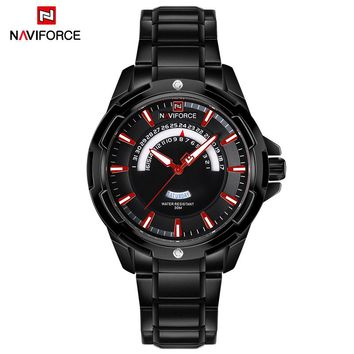 2018 Top Luxury Brand NAVIFORCE Sport Watches Men Military Waterproof quartz Wrist Watch Male Date Steel Clock relogio masculino