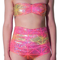Tequila Sunrise Bandeau Swim Top