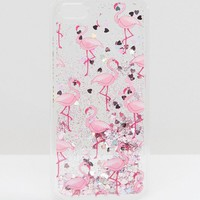 Skinnydip Liquid Glitter Flamingo iPhone 6/6s Case