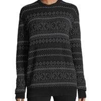 Ralph Lauren Collection Fair Isle Crewneck Cashmere Sweater