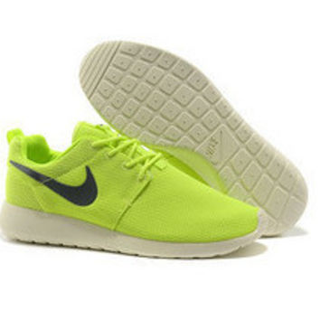 n015 - Nike Roshe Run (Lime Green/Black/White)
