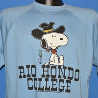 80s Snoopy Cowboy Hat Rio Hondo College Deadstock t-shirt Large