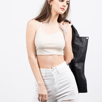 Lightweight Strappy Crop Top