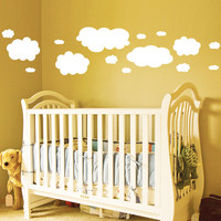 Nursery clouds wall decal