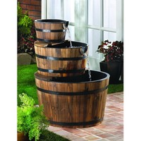Water Barrel Fountain - Outdoor & Garden - Home
