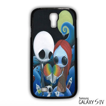 jack and sally nightmare before christmas rainbow ice cream for phone case Samsung Galaxy S3,S4,S5,S6,S6 Edge,S6 Edge Plus phone case