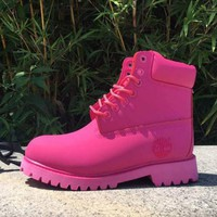 Timberland Rhubarb boots for men and women shoes waterproof Martin boots lovers Roses