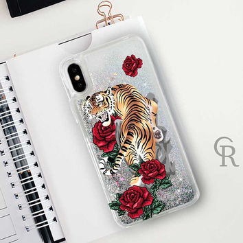 Tiger Glitter Phone Case Clear Case For iPhone 8 iPhone 8 Plus - iPhone X - iPhone 7 Plus - iPhone 6 - iPhone 6S - iPhone SE  iPhone 5