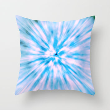 TIE DYE - LIGHT BLUE Throw Pillow by Nika | Society6