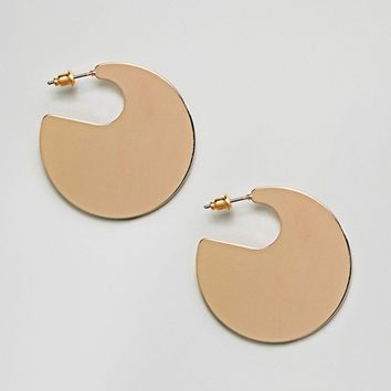 ASOS DESIGN Solid Circle Hoop Earrings at asos.com