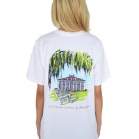 Southern Charm Tee in White by Lauren James - FINAL SALE