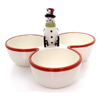 Tabletop Festive Snowman Condiment Christmas Tabletop