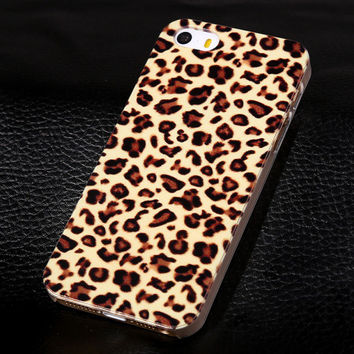 2017 New Leopard Spots Painted Case for Apple iPhone5 5s 5g