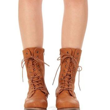 Whisky Lace Up Boots
