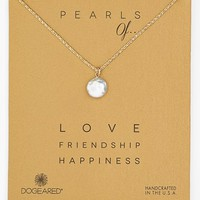 Women's Dogeared 'Pearls of...' Boxed Coin Pearl Necklace