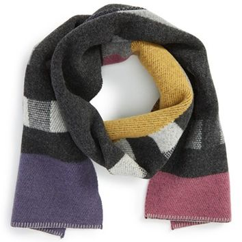 Women's Burberry Check Wool & Cashmere Blanket Scarf - Pink