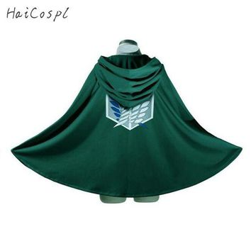 ac PEAPO2Q Attack On Titan Costume Green Cloak Japanese Anime Cosplay  Shingeki No Kyojin Hoodie Eren Levi Mikasa Cloak Scout Legion Coat