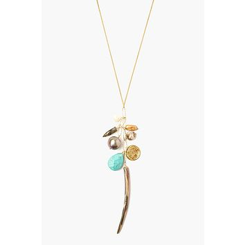 Chan Luu Abalone Mix Charm Layering Necklace