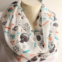 Science Scarf , Chemistry Scarf , Atom Printed Scarf , Women Accessories , Molecule Printed Scarf , Back to the School