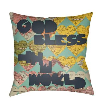 Jetset Pillow Cover - Bright Yellow, Bright Pink, Navy, Mint, Olive - JT003