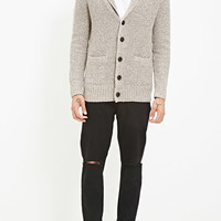 Shawl Collar Marled Cardigan | 21 MEN - 2000156980