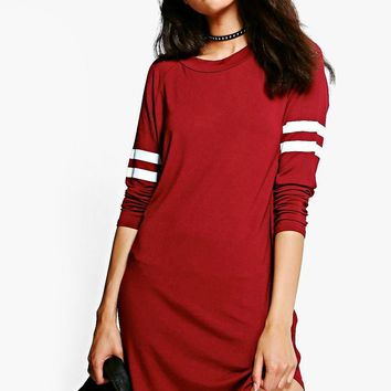 Petite Ellie Stripe Detail T-Shirt Dress