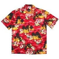 sunburst hawaiian cotton shirt