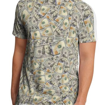 Benjamins Men's Sub Tee Single Side All Over Print by TooLoud