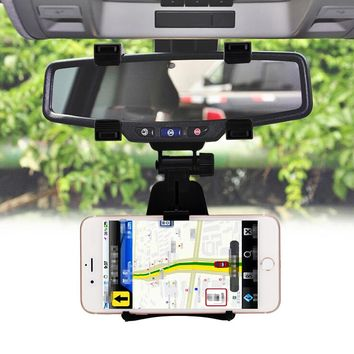 Universal Mobile Phone Holder Car Mount Rearview Mirror Navigation GPS Car Phone Holder