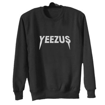 yeezus sweater Black Sweatshirt Crewneck Men or Women for Unisex Size with variant colour