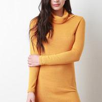 Cowl Neck Long Sleeve Tunic Dress